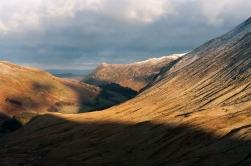View down Grisedale to Birk Fell