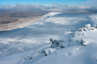 Looking north from Ingleborough summit