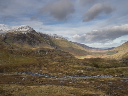 Nant Ffrancon looking to Conwy from Llyn Idwal