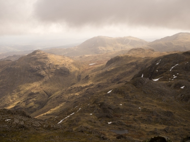Looking South East from Bowfell
