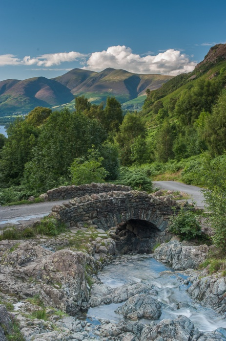 Ashness Bridge looking to Skiddaw