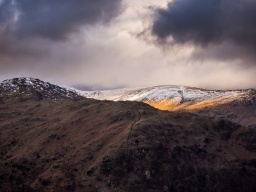 Part of the Fairfield horseshoe in dramatic winter light