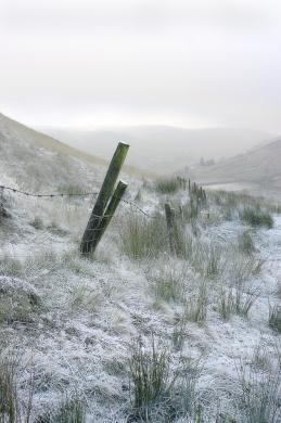 A hard frosty morning in the pennines near Walsden, Calderdale