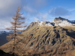 The Langdale Pikes on a late winter afternoon.