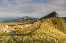 The Nantlle Ridge looking south at sunset