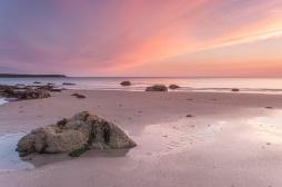 Sunset over Penllech beach on the Lleyn peninsula