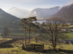 Looking to Brothers Water in the Patterdale valley.