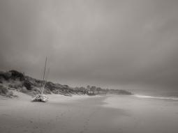 Abersoch Beach during an autumn storm