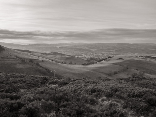 The Vale of Clwyd from near Moel Gyw summit
