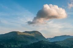 A cloud floats above St. Sunday Crag