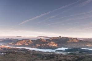 Snowdon at dawn from Cnicht summit