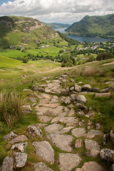 Ullswater and Glen Ridding from the path to Striding Edge