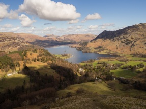 Ullswater from ascent path to St Sunday Crag